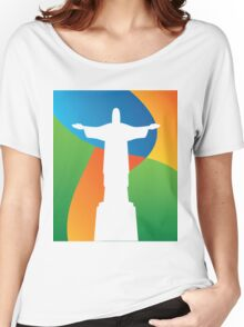 Brazil colors and Christo  Women's Relaxed Fit T-Shirt