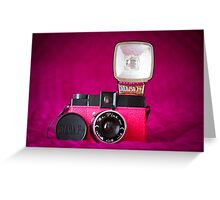 Mr. Pink - Diana F+ Camera Greeting Card