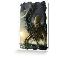 kraken big Greeting Card