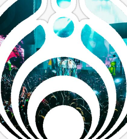 Bassnectar logo- crowd background Sticker