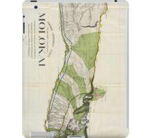 Vintage Map of Molokai Hawaii (1906) iPad Case/Skin