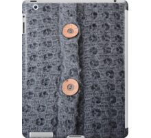 Knitted pattern and buttons iPad Case/Skin