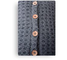 Knitted pattern and buttons Canvas Print