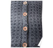 Knitted pattern and buttons Poster