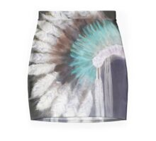 Native Indian Headdress in negative Mini Skirt