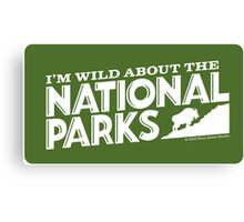 I'm Wild For the National Parks: Mountain Goat Canvas Print