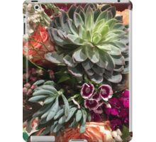 Floral photograph - succulents, peach rose and purple flowers iPad Case/Skin