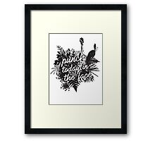 Punch 2day In The Face Framed Print