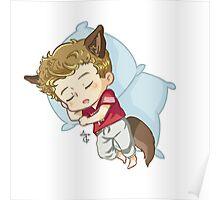Sleepy Beta Pup Poster