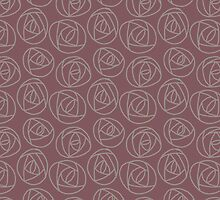 Rose doodle - dark rose and taupe by ixie