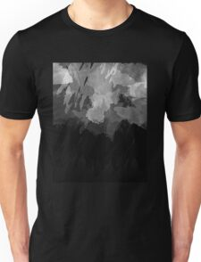 Black and White Grunge Watercolor Unisex T-Shirt