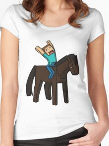 Horse Rider Women's Fitted Scoop T-Shirt