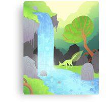Lehti at the waterfall Canvas Print
