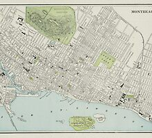 Vintage Map of Montreal (1901) by BravuraMedia