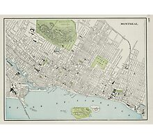 Vintage Map of Montreal (1901) Photographic Print