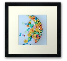 Quilled flowers Framed Print