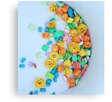 Quilled flowers Canvas Print