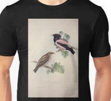 John Gould The Birds of Europe 1837 V1 V5 212 Rose Coloured Pastor Unisex T-Shirt