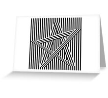 star stripe design Greeting Card