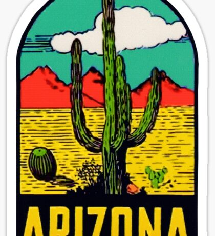 Arizona AZ State Vintage Travel Decal Sticker