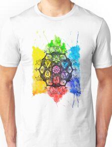 Rainbow Chakras Painting Unisex T-Shirt