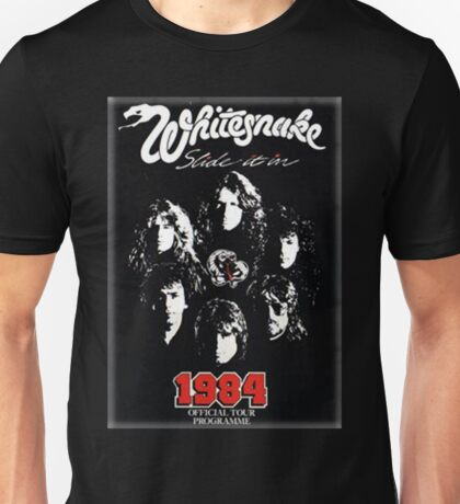 Whaite Snake Slide It in 1984 Unisex T-Shirt
