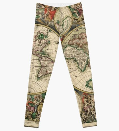 Take the Old Map Off the Shelf Leggings