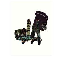 La City Skyline Art Print