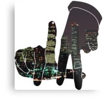 La City Skyline Metal Print