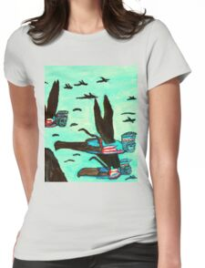 WIZARD OF OZ FLYING MONKEYS Womens Fitted T-Shirt