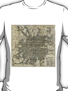 Vintage Map of Moscow (1893) T-Shirt