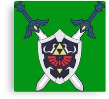 Hylian Shield and Master Sword Crest Canvas Print