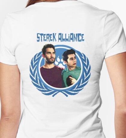 The Ultimate Sterek Alliance Blue T-Shirt [Back] Womens Fitted T-Shirt