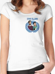 The Ultimate Sterek Alliance Blue T-Shirt [Small Logo] Women's Fitted Scoop T-Shirt
