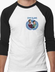 The Ultimate Sterek Alliance Blue T-Shirt [Small Logo] Men's Baseball ¾ T-Shirt
