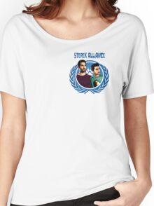 The Ultimate Sterek Alliance Blue T-Shirt [Small Logo] Women's Relaxed Fit T-Shirt