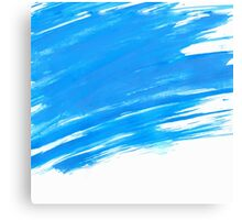 Blue Brush Paint Strokes  Canvas Print