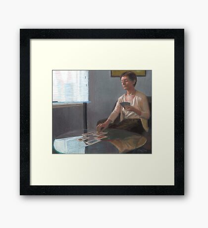 Madeline Reads Tarot Framed Print