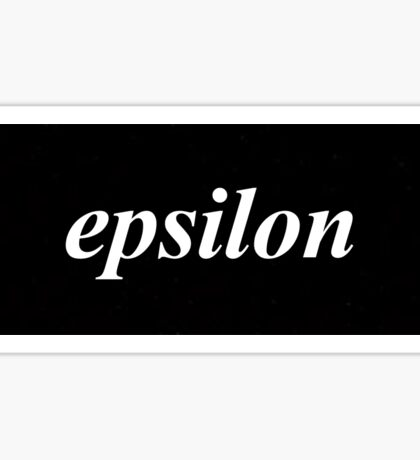 Epsilon Black Box Sticker