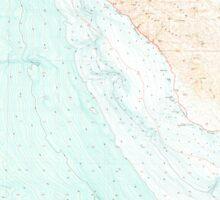 USGS TOPO Map California CA Cambria 299056 1980 100000 geo Sticker