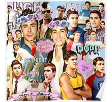 Dave Franco and Zac Efron Collage Edit Poster