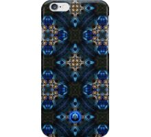 Kaleidoscope Golden Blue iPhone Case/Skin