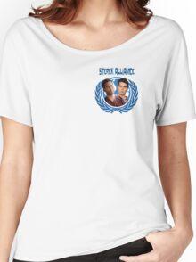 The Ultimate Sterek Alliance II Blue T-Shirt [Small Logo] Women's Relaxed Fit T-Shirt