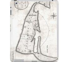 Vintage Map of Nantucket (1782) iPad Case/Skin