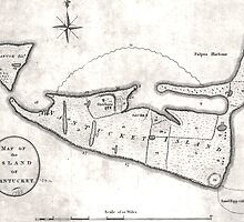 Vintage Map of Nantucket (1782) by BravuraMedia