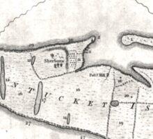 Vintage Map of Nantucket (1782) Sticker