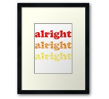 Alright Alright Alright - Matthew McConaughey : White Framed Print
