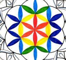 Colorful Seed of Life Mandala Sticker