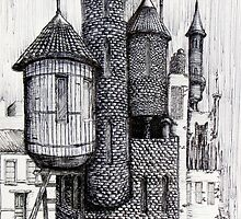 Urban Insulae Series—Watertower by Christopher Hinson
