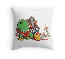 Cool and Nerd Dinosaur  Throw Pillow